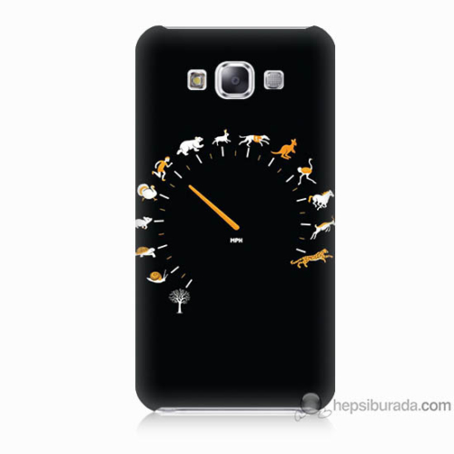 Bordo Samsung Galaxy E7 Hız Baskılı Silikon Kapak Kılıf