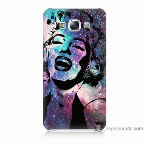 Bordo Samsung Galaxy E7 Marilyn Monroe Baskılı Silikon Kapak Kılıf
