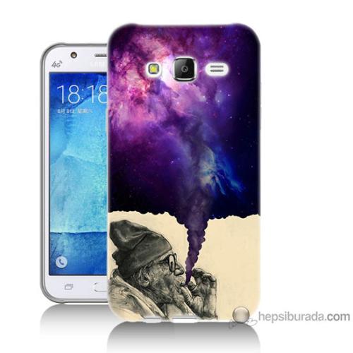 Bordo Samsung Galaxy J3 Hayal Gücü Baskılı Silikon Kapak Kılıf