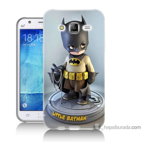Bordo Samsung Galaxy J7 Batman Baskılı Silikon Kapak Kılıf