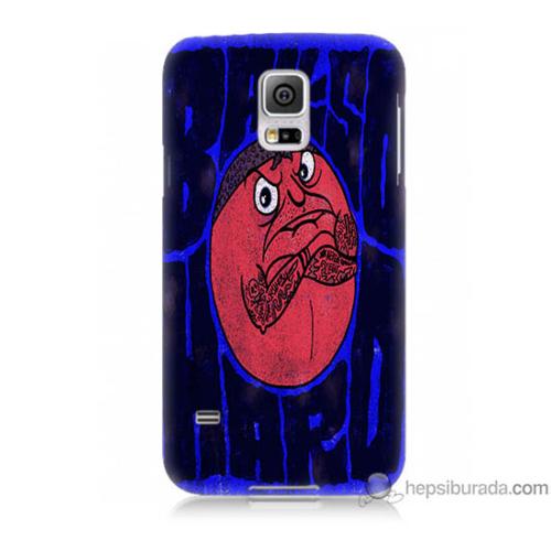 Bordo Samsung Galaxy S5 Somurtkan Top Baskılı Silikon Kapak Kılıf