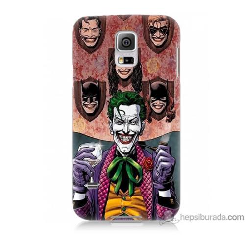 Bordo Samsung Galaxy S5 Joker Keyfi Baskılı Silikon Kapak Kılıf