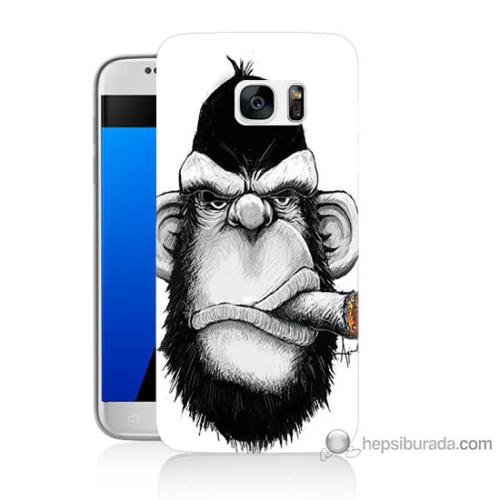 Bordo Samsung Galaxy S7 By Dudak Baskılı Silikon Kapak Kılıf