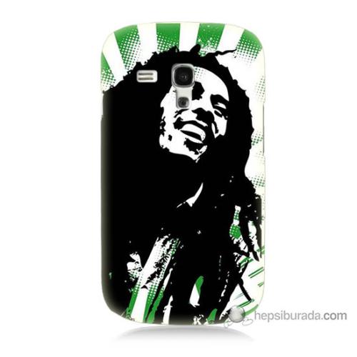 Bordo Samsung Galaxy S3 Mini Bob Marley Soft Baskılı Silikon Kapak Kılıf