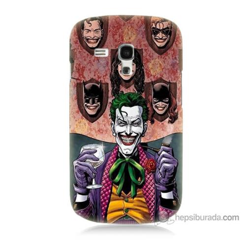 Bordo Samsung Galaxy S3 Mini Joker Keyfi Baskılı Silikon Kapak Kılıf