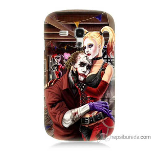 Bordo Samsung Galaxy S3 Mini Joker Ask Baskılı Silikon Kapak Kılıf