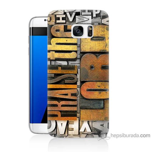 Bordo Samsung Galaxy S7 Edge The Lord Baskılı Silikon Kapak Kılıf