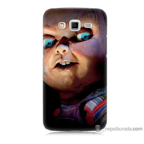 Bordo Samsung Galaxy Grand 2 Chuky Baskılı Silikon Kapak Kılıf