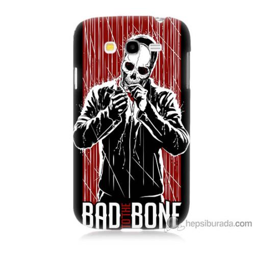 Bordo Samsung Galaxy Grand Neo Bad Bone Baskılı Silikon Kapak Kılıf