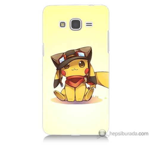 Bordo Samsung Galaxy Grand Prime Pokemon Baskılı Silikon Kapak Kılıf