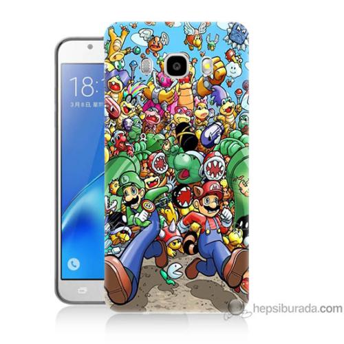 Bordo Samsung Galaxy J3 2016 Mario Baskılı Silikon Kapak Kılıf