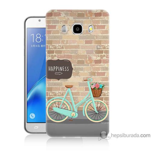 Bordo Samsung Galaxy J3 2016 Bisiklet Baskılı Silikon Kapak Kılıf