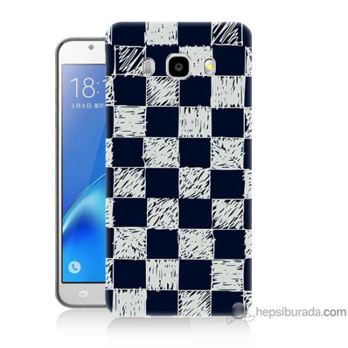 Bordo Samsung Galaxy J3 2016 Dama Baskılı Silikon Kapak Kılıf