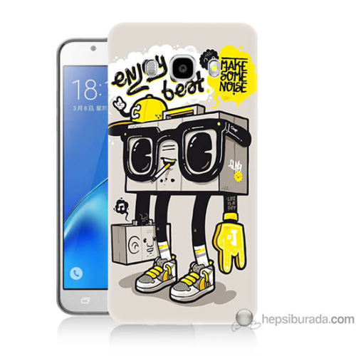 Bordo Samsung Galaxy J7 2016 Teyp Adam Baskılı Silikon Kapak Kılıf