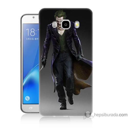 Bordo Samsung Galaxy J7 2016 Joker Klasik Baskılı Silikon Kapak Kılıf