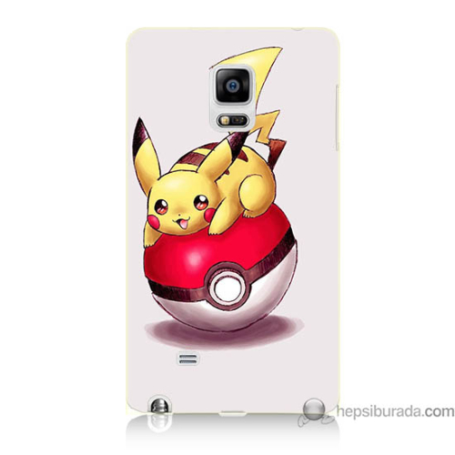 Bordo Samsung Galaxy Note Edge Pokemon Topu Baskılı Silikon Kapak Kılıf