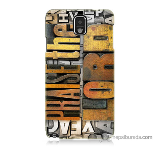 Bordo Samsung Galaxy Note 3 The Lord Baskılı Silikon Kapak Kılıf