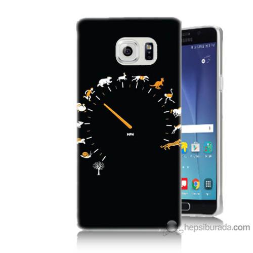 Bordo Samsung Galaxy Note 5 Hız Baskılı Silikon Kapak Kılıf