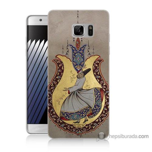 Bordo Samsung Galaxy Note 7 Semazen Baskılı Silikon Kapak Kılıf