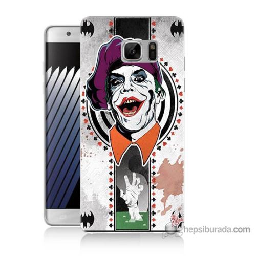Bordo Samsung Galaxy Note 7 Joker Baskılı Silikon Kapak Kılıf