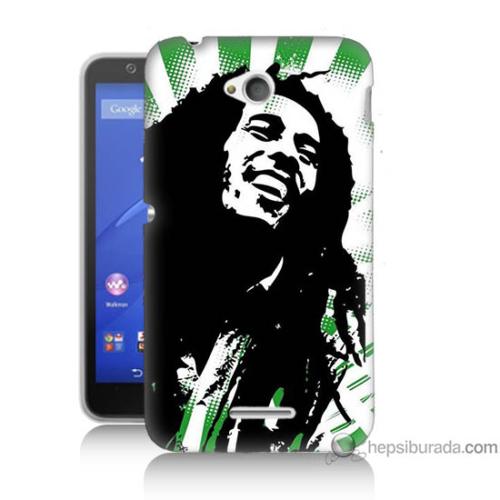 Bordo Sony Xperia E4G Bob Marley Soft Baskılı Silikon Kapak Kılıf