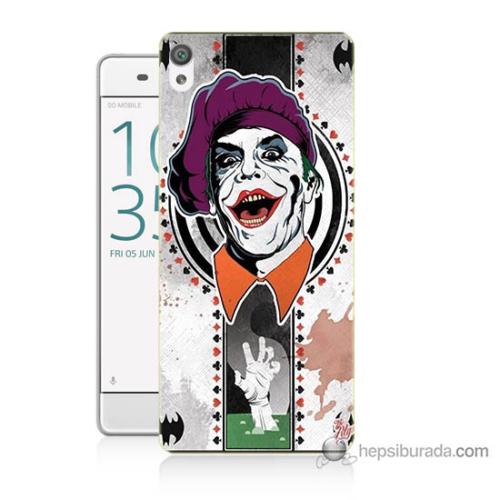 Bordo Sony Xperia E5 Joker Baskılı Silikon Kapak Kılıf