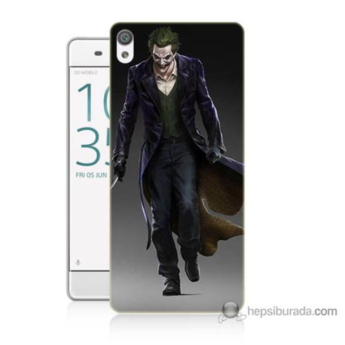 Bordo Sony Xperia Xa Joker Klasik Baskılı Silikon Kapak Kılıf