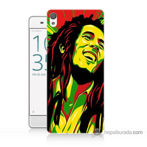 Bordo Sony Xperia Z5 Bob Marley Baskılı Silikon Kapak Kılıf