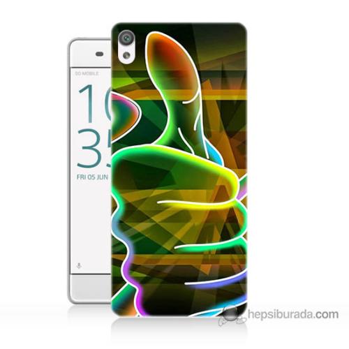 Bordo Sony Xperia Z5 Compact El Baskılı Silikon Kapak Kılıf