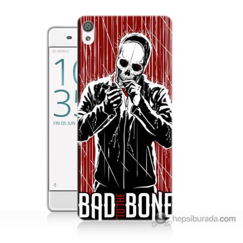 Bordo Sony Xperia Z5 Mini Bad Bone Baskılı Silikon Kapak Kılıf