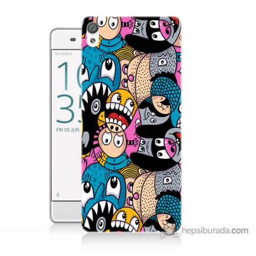Bordo Sony Xperia Z5 Premium Renkli Ahtapotlar Baskılı Silikon Kapak Kılıf