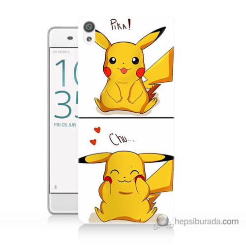 Bordo Sony Xperia Z5 Premium Pokemon Görsel Baskılı Silikon Kapak Kılıf