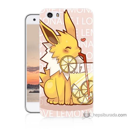 Bordo Vestel Venüs V3 5570 Sevimli Pokemon Baskılı Silikon Kapak Kılıf