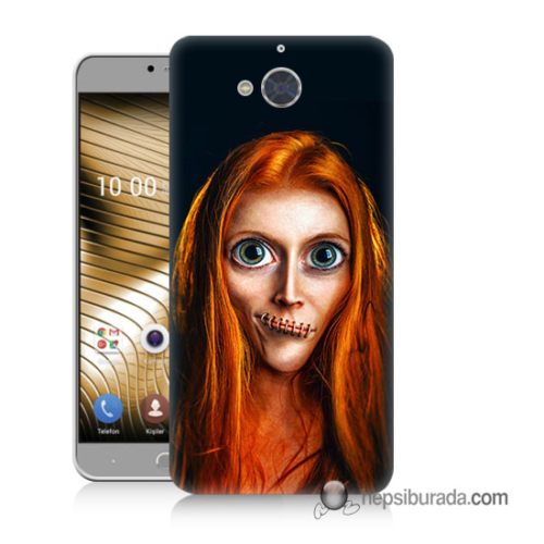 Teknomeg Casper Via A1 Kılıf Kapak Zombie Kız Baskılı Silikon