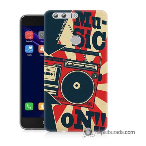 Teknomeg Huawei Honor 8 Kapak Kılıf Müzik Baskılı Silikon
