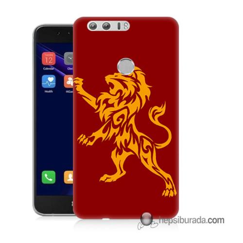 Teknomeg Huawei Honor 8 Kapak Kılıf Aslan Baskılı Silikon