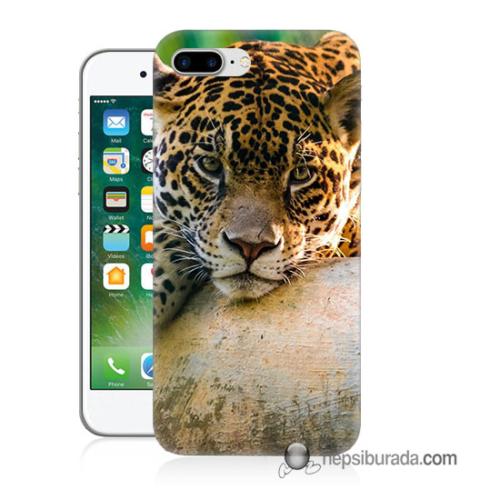 Teknomeg iPhone 7 Plus Kapak Kılıf Leopar Baskılı Silikon