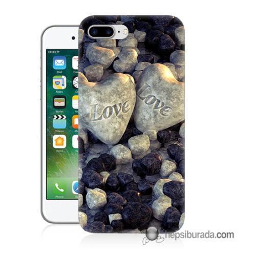 Teknomeg iPhone 7 Plus Kapak Kılıf Love Baskılı Silikon