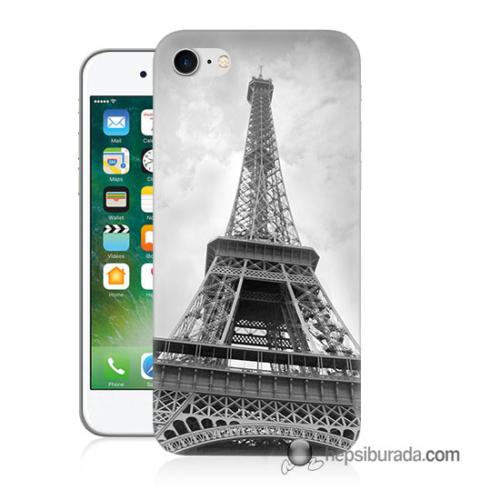 Teknomeg iPhone 7 Kapak Kılıf Eyfel Kulesi Baskılı Silikon