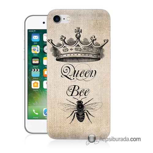 Teknomeg iPhone 7 Kılıf Kapak Queen Bee Baskılı Silikon