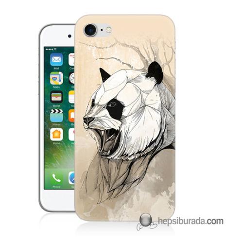 Teknomeg iPhone 7 Kapak Kılıf Kavgacı Panda Baskılı Silikon