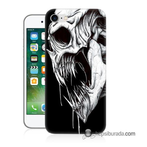 Teknomeg iPhone 7 Kapak Kılıf İskelet Canavar Baskılı Silikon