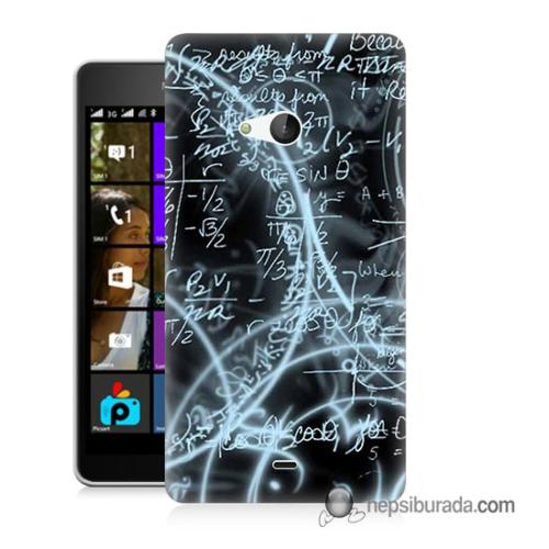 Teknomeg Microsoft Lumia 540 Kapak Kılıf Matematik Baskılı Silikon