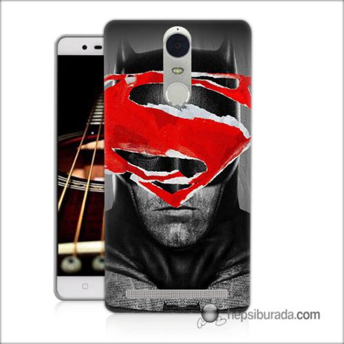 Teknomeg Lenovo K5 Note Kapak Kılıf Batman Vs Superman Baskılı Silikon