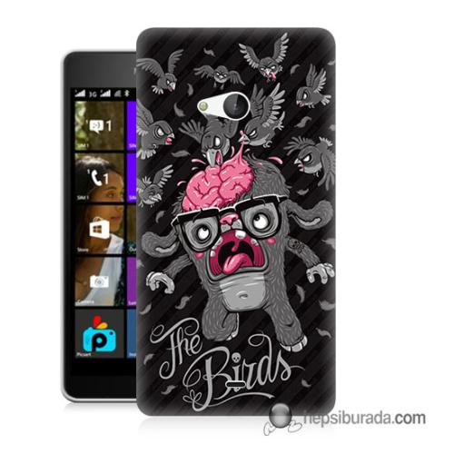 Teknomeg Microsoft Lumia 540 Kılıf Kapak The Birds Baskılı Silikon