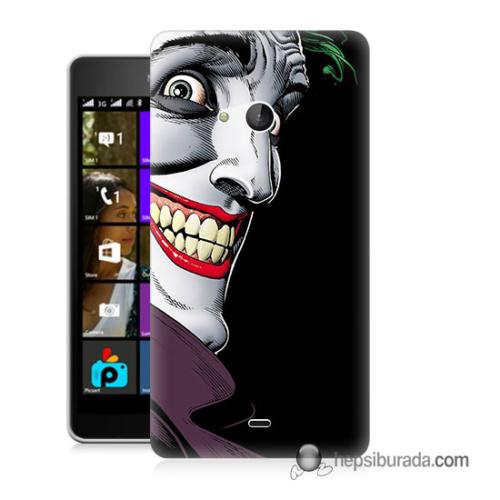 Teknomeg Microsoft Lumia 540 Kapak Kılıf Joker Baskılı Silikon