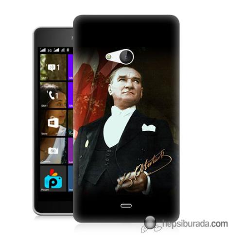 Teknomeg Microsoft Lumia 540 Kapak Kılıf M.K.ATATÜRK Baskılı Silikon