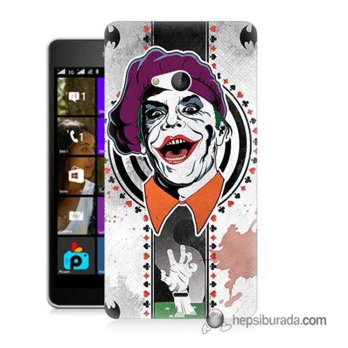 Teknomeg Microsoft Lumia 540 Kapak Kılıf Joker 21 Baskılı Silikon