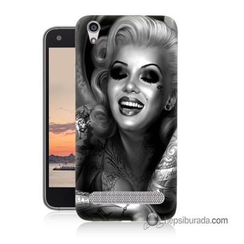 Teknomeg Vestel Venüs V3 5020 Kapak Kılıf Marilyn Monroe Baskılı Silikon