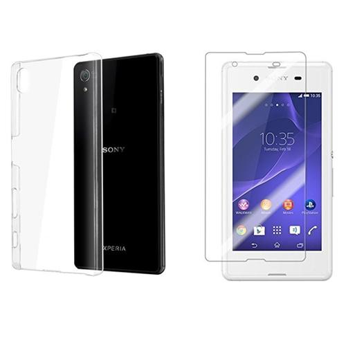 Blueway Sony Xperia Z5 Kırılmaz Cam Ekran Koruyucu + Şeffaf Silikon Kılıf